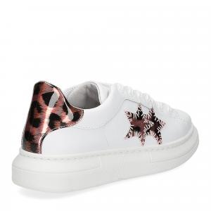 2Star Elettra sneaker bianco maculato rosa-5