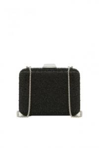 Clutch strass bicolor nero grigio - LIU JO