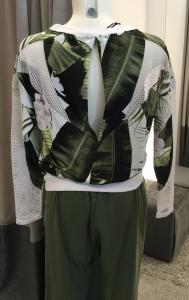 Casacca fantasia verde donna Liu.jo sport