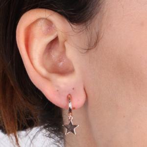 By Simon - Orecchini con stelle pendenti in argento 925