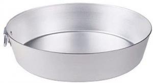 Tortiera conica in alluminio con anello, spessore 3 mm, Agnelli cm.4,5h diam.18
