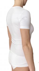 2 Maglie da donna girocollo con manica corta in cotone elasticizzato NOTTINGHAM