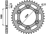 102748C45 CORONA PBR P.520 ACCIAIO Z 48 DUCATI MONSTER PASO MOTOCICLI