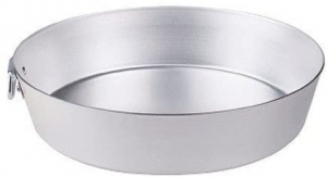 Tortiera conica in alluminio con anello, spessore 3 mm, Agnelli cm.6,5h diam.30