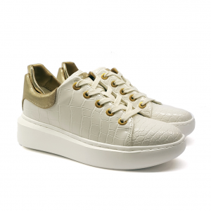 Sneaker bianca effetto cocco Guess