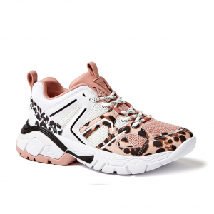 Chunky sneaker cipria/animalier Guess