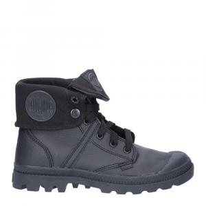 Palladium Lady Pallabrouse Baggy Black Leather-2