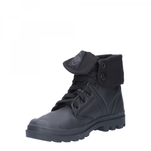 Palladium Lady Pallabrouse Baggy Black Leather-4