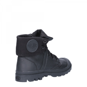 Palladium Lady Pallabrouse Baggy Black Leather-5