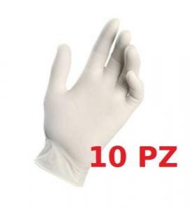 GUANTI LATTICE NATURALE 100% TAGLIA M 10 PZ ( 1 PACCHETTI DA 10 PZ )