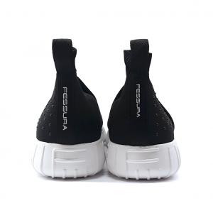 Sneaker nera in tessuto Fessura