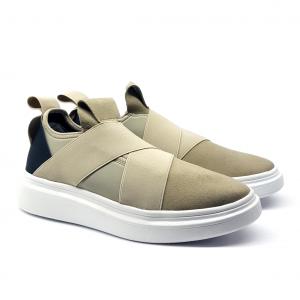 Sneaker taupe in tessuto Fessura