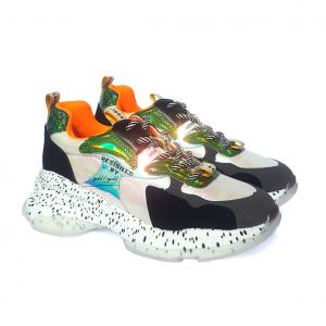 Chunky sneaker arancio/multicolor Gold&Gold