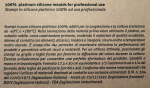 Stampo tondo in silicone cm26