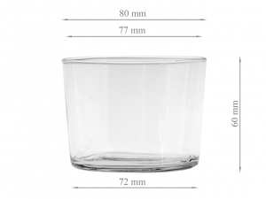 Bicchiere in vetro trasparente leggero 190cc