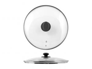 Coperchio in vetro con bordo in acciaio cm30