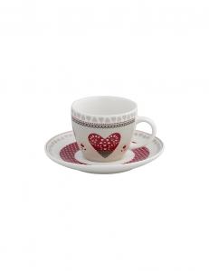 Confezione regalo 4 tazze caffé con cuori