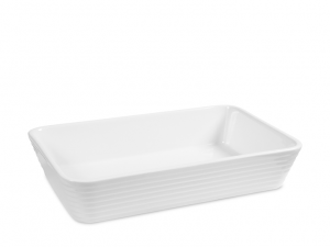 Pirofila da forno in porcellana bianca da 30x20cm