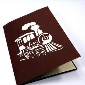 Biglietto augurale 'Locomotiva' Origamo