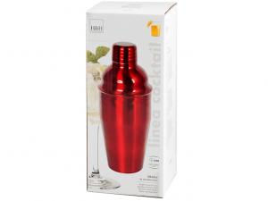 Shaker in metallo rosso da 55cl