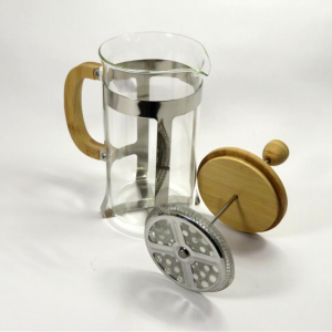 Tisaniera in vetro e legno da 1 litro