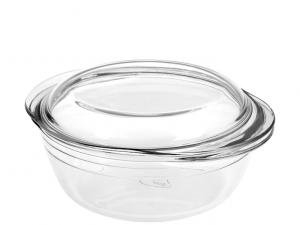 Casseruola in pyrex con coperchio da 2,3 litri