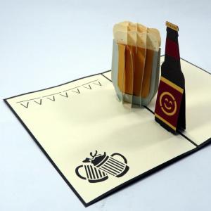 Biglietto augurale boccale di birra Origamo