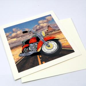 Biglietto augurale in filigrana Motocicletta Origamo