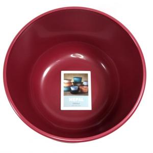 Ciotola con coperchio trasparente 3 litri rossa