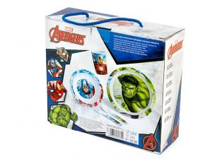 Confezione pranzo 5 pezzi avengers