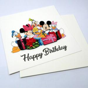 Biglietti augurali in filigrana 'Mickey compleanno'