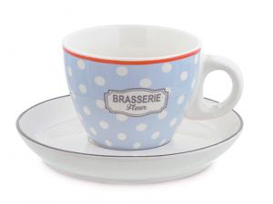 Confezione regalo 4 tazze da té in porcellana Brasserie
