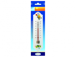 Termometro in metallo per esterni decorato