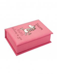 Scatola porta gioie per bambine con unicorno rosa