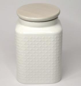 Barattolo in porcellana bianca
