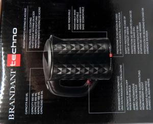 Bollitore elettrico Diamante nero 600ml