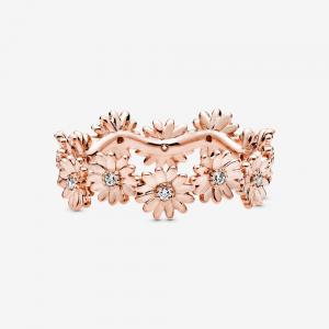 Anello a corona Margherita scintillante Rose