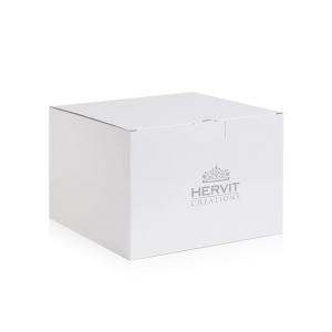 Hervit -  centrotavola porcellana dia 38cm bianco