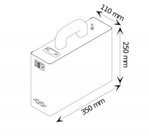 Sanificatore  Generatore  di Ozono  ECOZS60 F -  Per ambienti fino a 60,00 mq