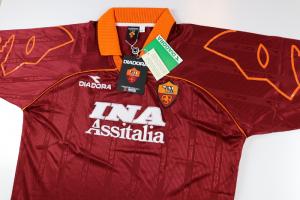 1999-00 Roma Maglia Home XXL *Nuova