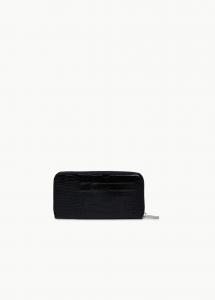 Portafoglio XL Zip Around cocco nero - LIU JO