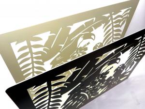 Porta riviste metallo tropicale bianco