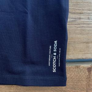 Maglia Scotch & Soda Pique Blu Scuro