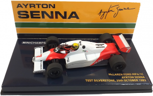McLaren Ford MP4/1 C Ayrton Senna Test Silverstone 25th October 1983 1/43