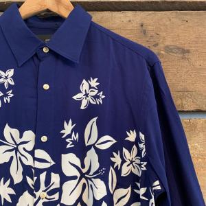 Camicia Scotch & Soda in Viscosa a Maniche Lunghe Blu Scuro con Motivo Floreale