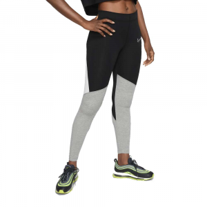 Nike Leggings Swoosh Grey/Black da Donna