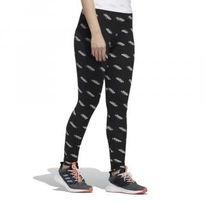 Leggings Adidas Multi Scritte Black da Donna
