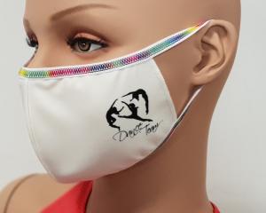 Le mascherine Pridance con stampa Danza
