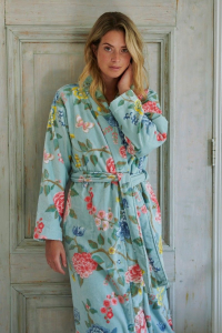 Terry bathrobe with hood PIP STUDIO Good Evening turquoise