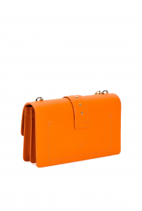 Love Bag in pelle bottalata arancio Pinko.